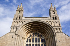 Front entrance to tewkesbury abbey Stock Images