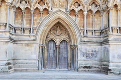 Front entrance to Wells cathedral Stock Images