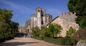 Convent of Christ Knights Templar castle in Tomar Portugal. royalty free stock photos