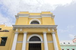 Front Entry of Landmark Building in Old San Juan royalty free stock image