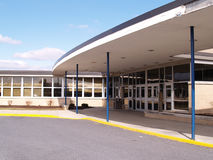 Front entry to a school. A front entry to a school royalty free stock photography