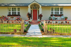 Front entryway of a home Royalty Free Stock Photo