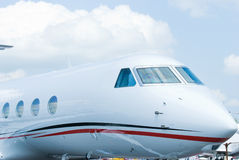 Front of executive jet Stock Photo