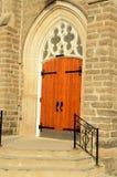 Front Exterior Door de uma igreja Foto de Stock