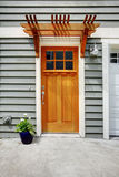 Front exterior door of the town house Stock Image