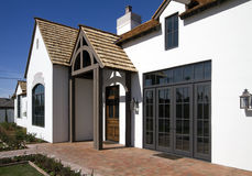 Front exterior of new modern desert home Stock Photography