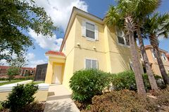 Front Exterior. A Front Exterior of a Townhome in Florida Stock Photo