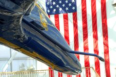 The front of a F/A-18 Hornet Blue Angels jet Stock Image