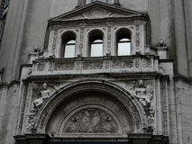 Front Facade Of Bank in Buenos Aires Royalty Free Stock Images