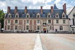 The front facade of Blois Castle Stock Photos