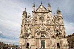 Facade of the cathedral of Orvieto Stock Photo