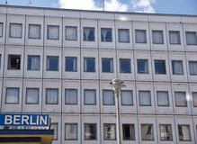 Front facade of a commercial building in Berlin Stock Photography