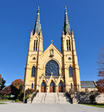 Front Facade da igreja Católica de St Andrew Fotos de Stock Royalty Free