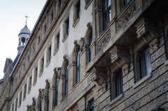 Front Facade Detail Of A Historical Building Royalty Free Stock Image