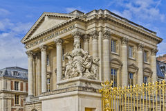 Front facade of Famous palace Versailles Royalty Free Stock Photo