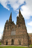 Front facade of Lichfield Cathedral, Lichfield, UK Stock Photography