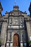 Front facade Mexico City Metropolitan Cathedral Royalty Free Stock Photo