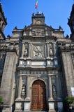 Front facade Mexico City Metropolitan Cathedral. The front facade Mexico City Metropolitan Cathedral Royalty Free Stock Photo