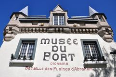 Museum of Fort in Old Quebec City Royalty Free Stock Photos