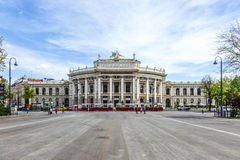 Free Front Facade Of Burgtheater And People On The Square Royalty Free Stock Image - 74603046