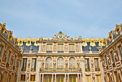 Front Facade Of Versailles Palace Stock Photography