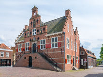 Front facade of old town hall of Oud-Beijerland, Netherlands. Front facade of former city hall in old town of Oud-Beijerland, Hoeksche Waard, South Holland Royalty Free Stock Photo