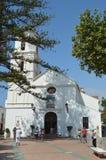 Front Facade Of The Parish bonito do EL Salvador De Nerja fotos de stock