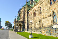 Front facade of Parliament Buildings. Stock Images