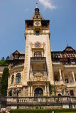 Front Facade of Peles Castle Stock Image