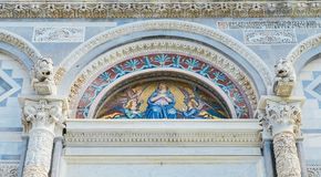 Front facade of the Pisa Cathedral, Royalty Free Stock Photo