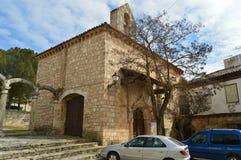 Front Facade Of Remedy Hermitage en Cifuentes Arquitectura, viaje de la religión imágenes de archivo libres de regalías