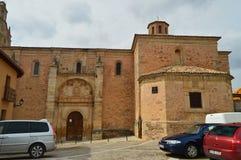 Front Facade Of Remedy Hermitage en Cifuentes Arquitectura, viaje de la religión imagen de archivo