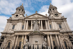 Front facade of St Paul's Cathedral London Royalty Free Stock Images