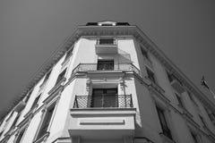 Front facade urban building Royalty Free Stock Photo