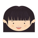 Front face asian girl with short hair Royalty Free Stock Images