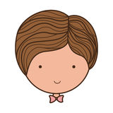 Front face groom with bowtie Royalty Free Stock Photography