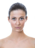 Front Face Of A Beautiful Woman With Healthy Fresh Skin Royalty Free Stock Image