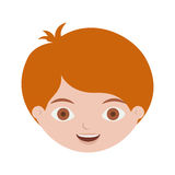 Front face redhead kid hairstyle. Vector illustration Royalty Free Stock Image