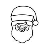 Santa Smiling Face Front Royalty Free Stock Image - Image ...