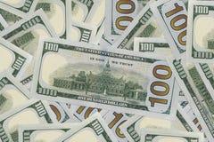 Front Facing Hundred Dollar Bills in Macro royalty-vrije stock foto's