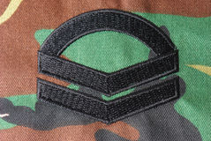 Corporal Rank Insignia Stock Photos