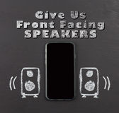 Front facing speakers for mobile phone Royalty Free Stock Image