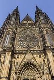 Front of the Famous St. Vitus Cathedral in Prague Royalty Free Stock Photos