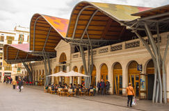 Front fasade of Santa Caterina market in Barcelona Royalty Free Stock Photos