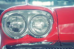 Front of a fashionable retro car Royalty Free Stock Photos