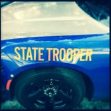 Front fencer on state trooper car Stock Photography