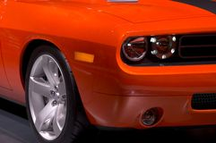 Front Fender. Of an orange muscle car Royalty Free Stock Photography