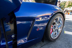 Front Fender Corvette Z51. Picture taken at a corvette car show in Los altos California 2013 Royalty Free Stock Photo