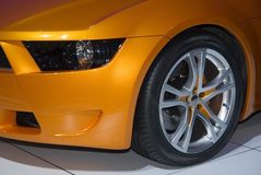 Front Fender of a Sports Car Stock Photo