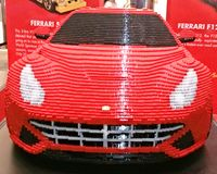 Front of Ferrari made of Lego Royalty Free Stock Image